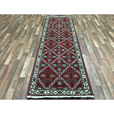 One-of-a-Kind Aca Hand-Woven Wool Red Area Rug