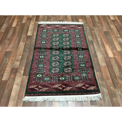 One-of-a-Kind Ewan Oriental Hand-Woven Wool Red Area Rug
