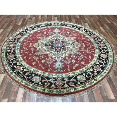 One-of-a-Kind Fellsmere Serapi Hand-Woven Wool Red Area Rug