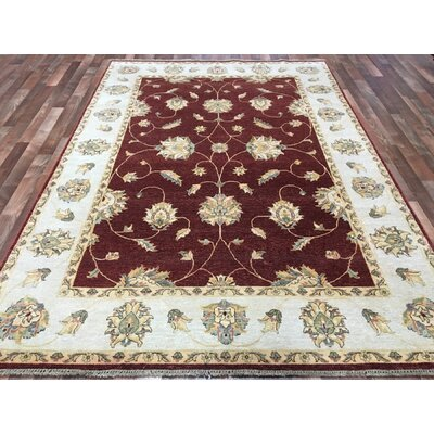 One-of-a-Kind Anjo Hand-Woven Wool Red Area Rug