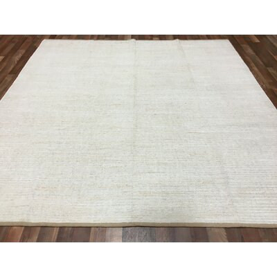 One-of-a-Kind Evan Kilim Hand-Woven Wool Gray Area Rug