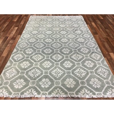 One-of-a-Kind Jema Oushak Turkish Hand-Woven Wool Gray/Beige Area Rug