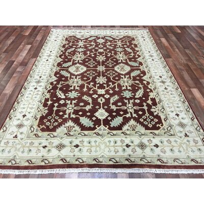 One-of-a-Kind Fillmore Oushak Oriental Hand-Woven Wool Red/Beige Area Rug