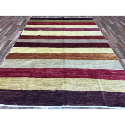One-of-a-Kind Micahel Gabbeh Hand-Woven Wool Beige Area Rug