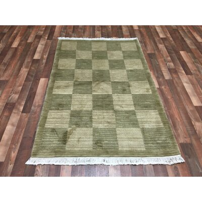 One-of-a-Kind Meier-Andrae Hand-Woven Wool Green/Beige Area Rug