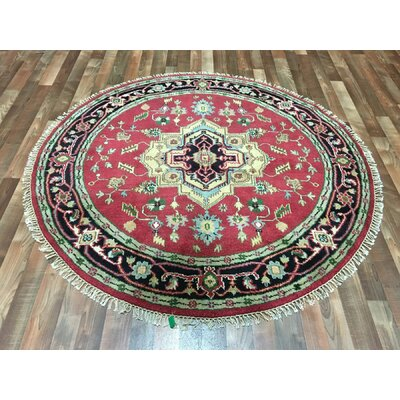 One-of-a-Kind Folwell Serapi Hand-Woven Wool Black/Gold/Red Area Rug