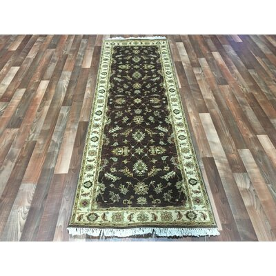 One-of-a-Kind Anjo Hand-Woven Wool Brown Area Rug