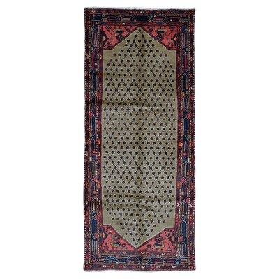 One-of-a-Kind Estrella Hamadan Hand-Woven Wool Tan Area Rug