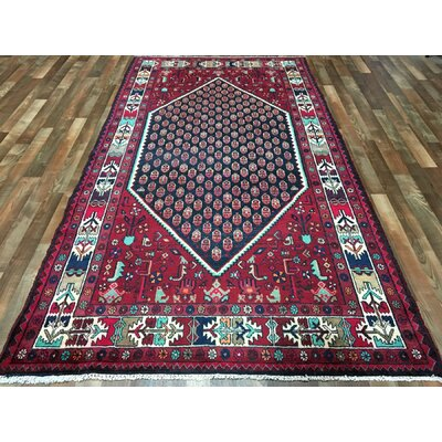 One-of-a-Kind Estrella Bijar Wide Hand-Woven Wool Red Area Rug