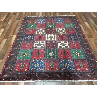 One-of-a-Kind Estrella Bakhtiari Hand-Woven Wool Red Area Rug