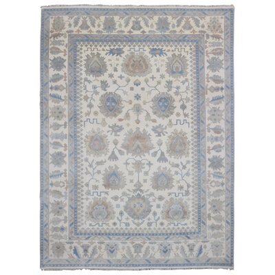 One-of-a-Kind Viviene Oushak Large Hand-Woven Wool Beige Area Rug