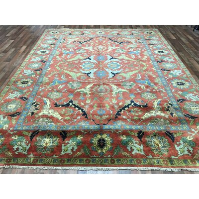 One-of-a-Kind Fredrick Serapi Hand Woven Wool Red/Blue Area Rug