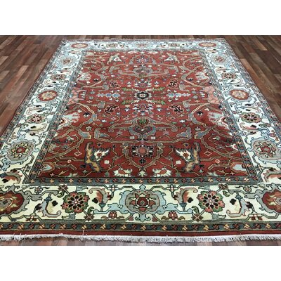 One-of-a-Kind Gallatin Serapi Hand-Woven Wool Red Area Rug