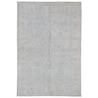 One-of-a-Kind Noi Peshawar Hand-Woven Rectangle Wool Beige Area Rug