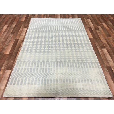 One-of-a-Kind Dickson Hand-Woven Wool Gray Area Rug