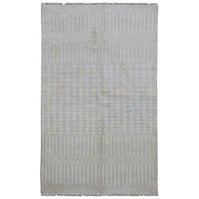One-of-a-Kind Callicoon Modern  Hand-Woven Wool Gray Area Rug