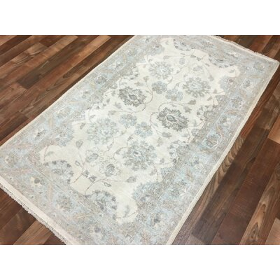 One-of-a-Kind Noi Peshawar Hand-Woven Wool Gray Area Rug