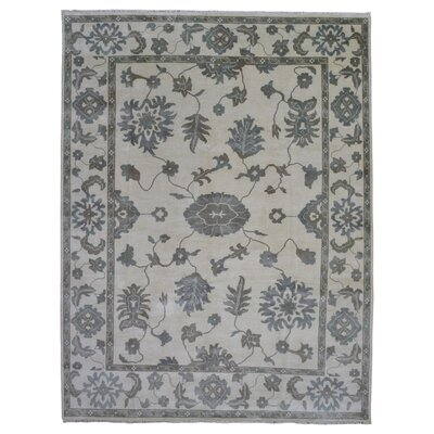 One-of-a-Kind Elani Oushak Hand-Woven Wool Beige/Brown/Blue Area Rug