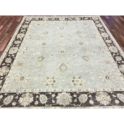 One-of-a-Kind Noi Traditional Peshawar Large Hand-Woven Wool Beige Area Rug