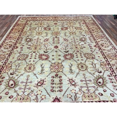 One-of-a-Kind Noi Peshawar Large Hand-Woven Rectangle Wool Beige Area Rug