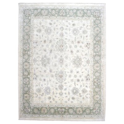One-of-a-Kind Noi Peshawar Large Hand-Woven Wool Beige Area Rug