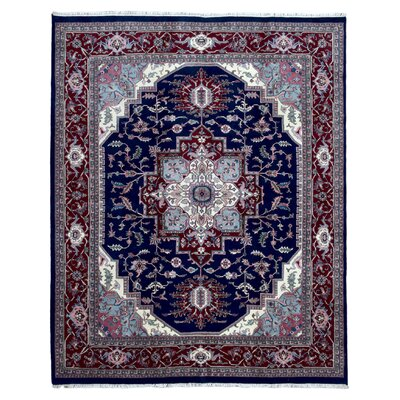 One-of-a-Kind Gayle Serapi Hand-Woven Wool Blue/Brown Area Rug