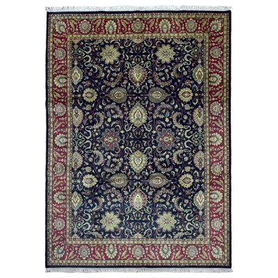 One-of-a-Kind Aca Hand-Woven Wool Navy Area Rug