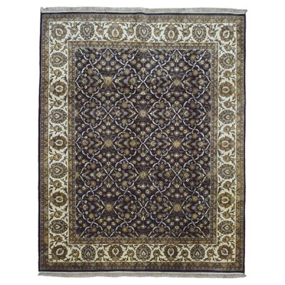 One-of-a-Kind Slagen Traditional Oriental Hand Woven Wool Beige/Brown Area Rug