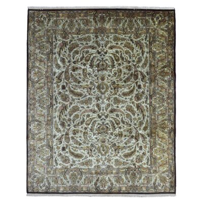 One-of-a-Kind Slagen Hand Woven Wool Beige Area Rug