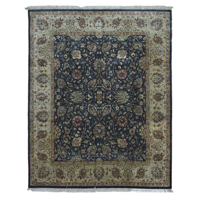 One-of-a-Kind Penni Oriental Hand Woven Rectangle Wool Navy Area Rug