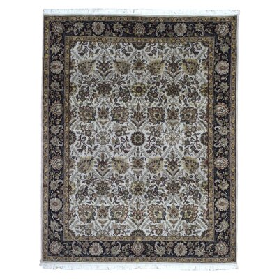One-of-a-Kind Slagen Traditional Oriental Hand Woven Wool Beige Area Rug