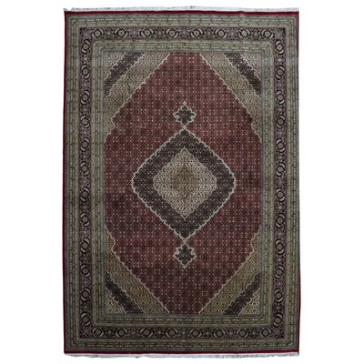 One-of-a-Kind Slagen Mahi Oriental Hand Woven Wool Red Area Rug