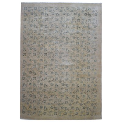 One-of-a-Kind Feldmann Modern Floral Hand Woven Wool Area Rug