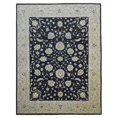 One-of-a-Kind Pearle Traditional Hand Woven Wool Black Area Rug