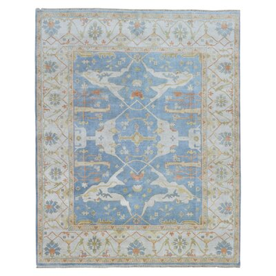 One-of-a-Kind Janean Oushak Hand Woven Wool Blue Area Rug