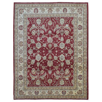 One-of-a-Kind Pearle Traditional Hand Woven Wool Red Area Rug