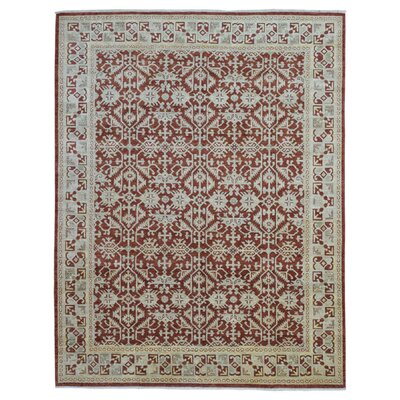 One-of-a-Kind Baron Hand Woven Wool Red Area Rug