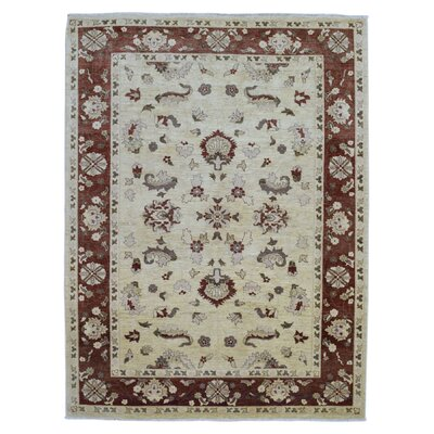 One-of-a-Kind Jona Peshawar Hand Woven Wool Beige Area Rug