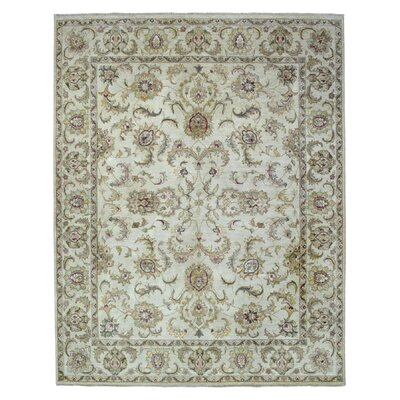 One-of-a-Kind Darrin Traditional Oriental Hand Woven Wool Beige Area Rug