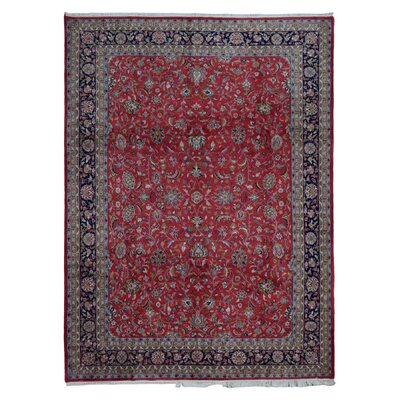 One-of-a-Kind Sothy Oriental Hand Woven Wool Red Area Rug