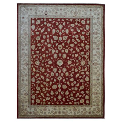 One-of-a-Kind Pearle Oriental Hand Woven Rectangle Wool Red Area Rug