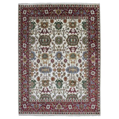 One-of-a-Kind Tanesha Oriental Hand Woven Wool Beige Area Rug