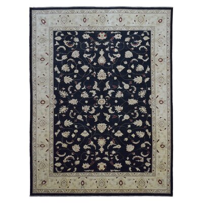 One-of-a-Kind Pearle Hand Woven Wool Black Area Rug