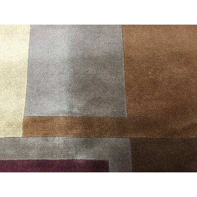 One-of-a-Kind Dissinger Hand Woven Wool Brown Area Rug