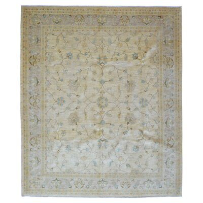 One-of-a-Kind Pearle Traditional Oriental Hand Woven Wool Beige Area Rug