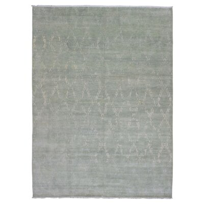 One-of-a-Kind Abigayle Oushak Hand Woven Wool Gray Area Rug