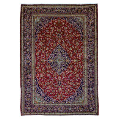 One-of-a-Kind Halstead Persian Kashan Hand Woven Wool Red Area Rug