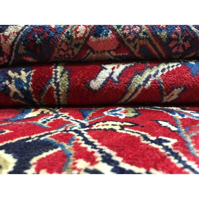 One-of-a-Kind Pan Persian Kashan Hand Woven Wool Red Area Rug
