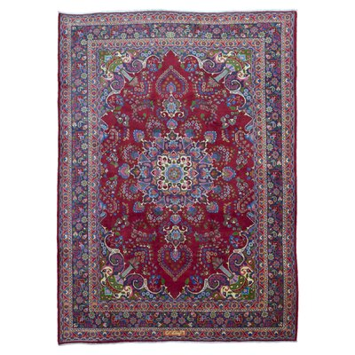 One-of-a-Kind Sbordone Persian Kashan Hand Woven Wool Red Area Rug
