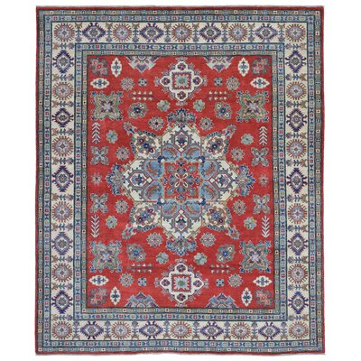 One-of-a-Kind Abbotsford Traditional Oriental Hand Woven Wool Red/Beige Area Rug